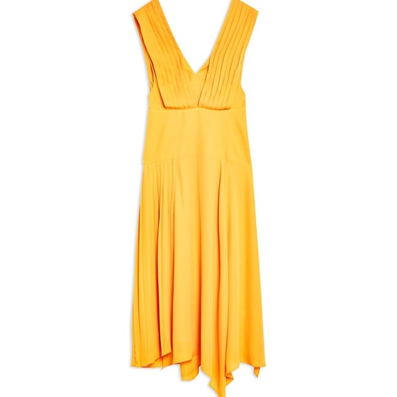 Topshop Dresses & Skirts - Top Shop Pleated Pinafore Dress